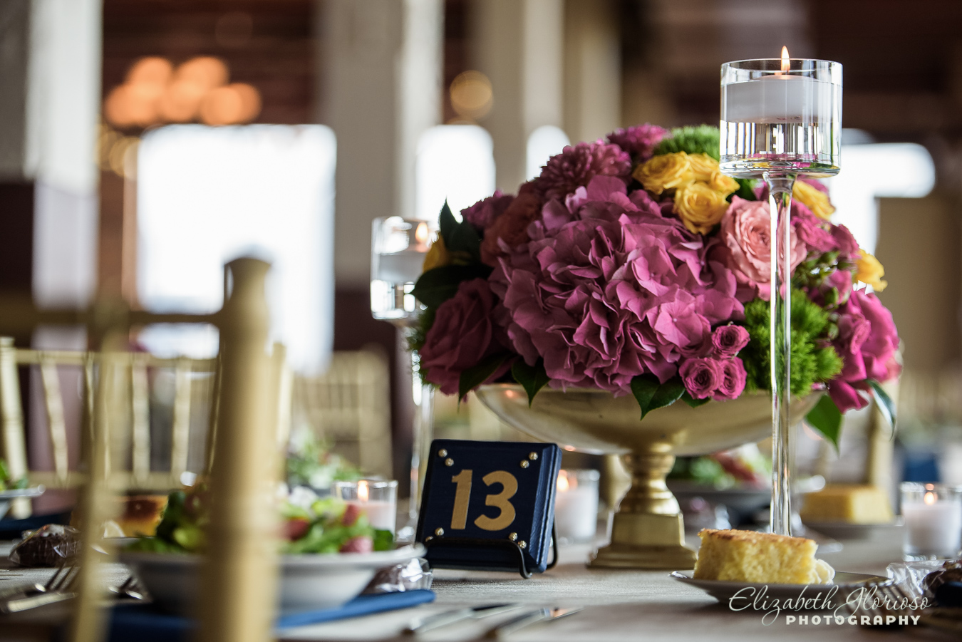 Wedding floral centerpiece Ariel International Center Cleveland Ohio