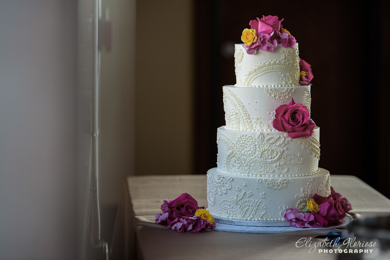 Wedding Cake at Ariel International Cleveland Ohio