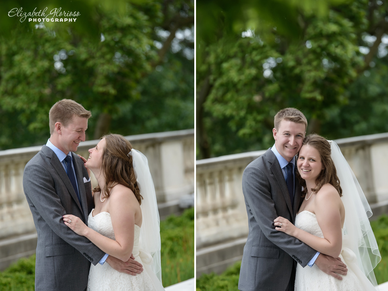 Wedding portraits at the Cleveland Museum