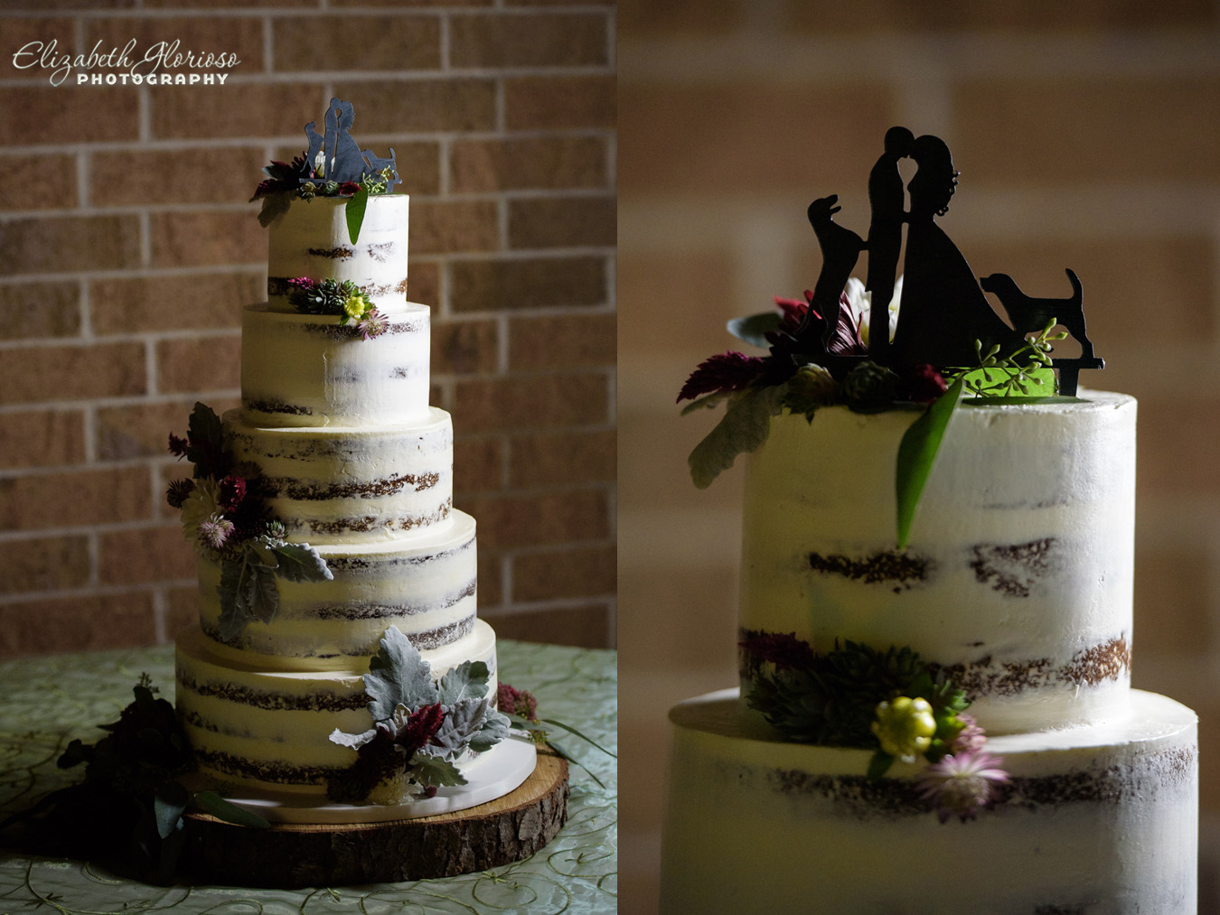 naked wedding cake Cleveland Ohio