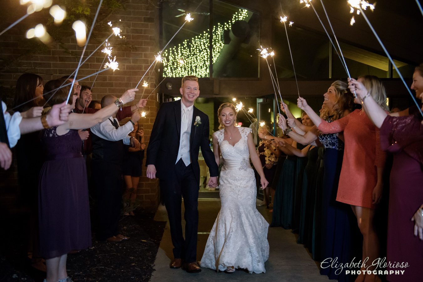Sparkler exit wedding North Olmsted Ohio