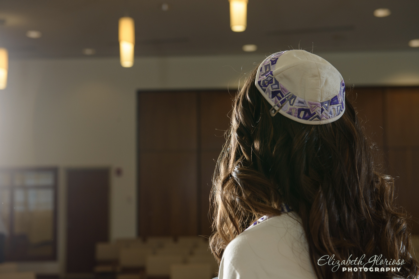 Bat Mitzvah girl with kippah Cleveland Ohio
