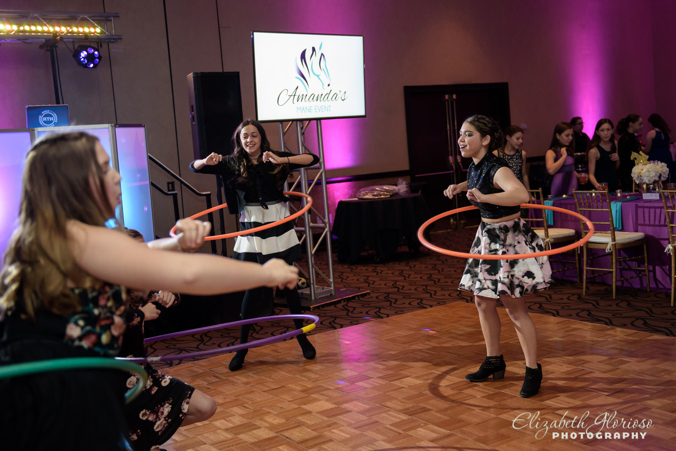 hula hoops Mitzvah party Cleveland Ohio