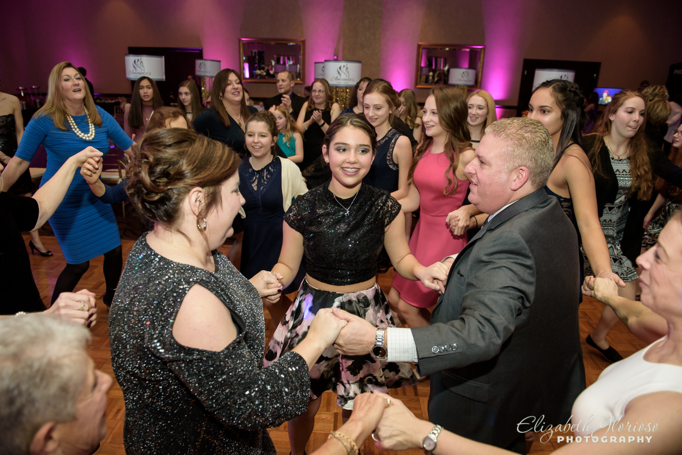 Bat Mitzvah girl dancing at the Bertram Aurora Ohio