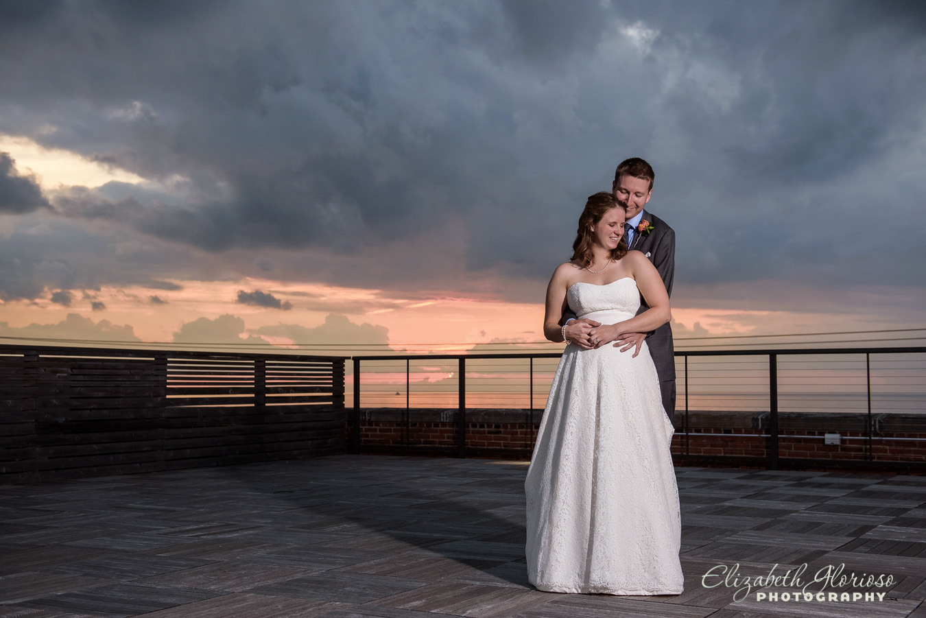 Sunset wedding Ariel International Cleveland Ohio
