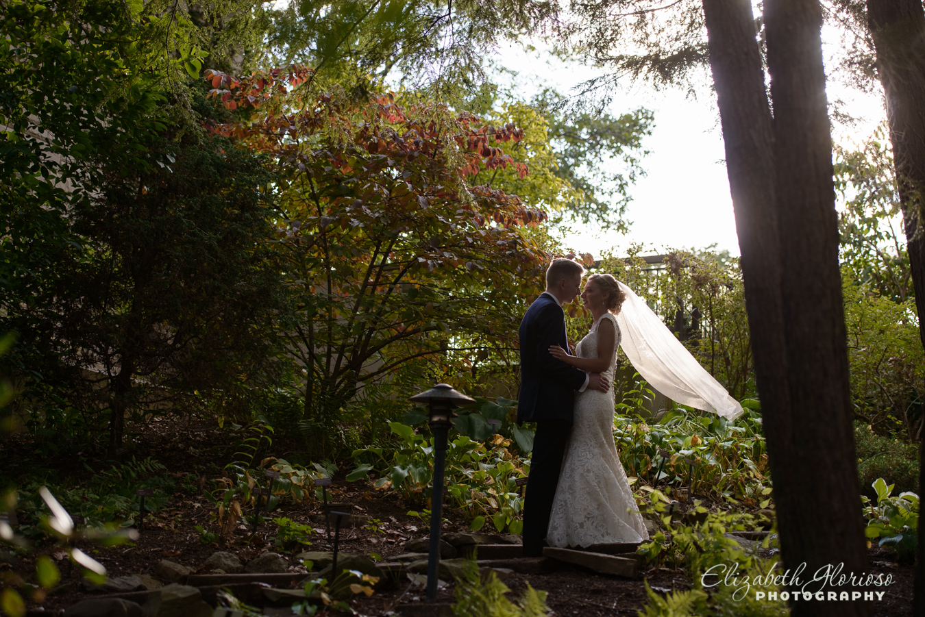 Wedding portraits at Japanese Garden Cleveland Botanical Garden