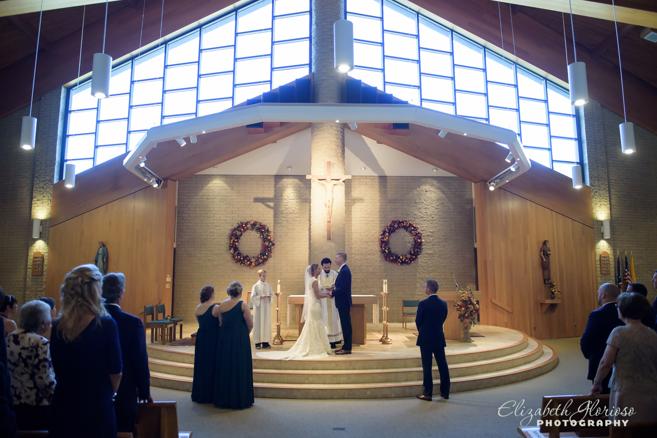 Wedding Ceremony St Anthony of Padua Church Parma Ohio