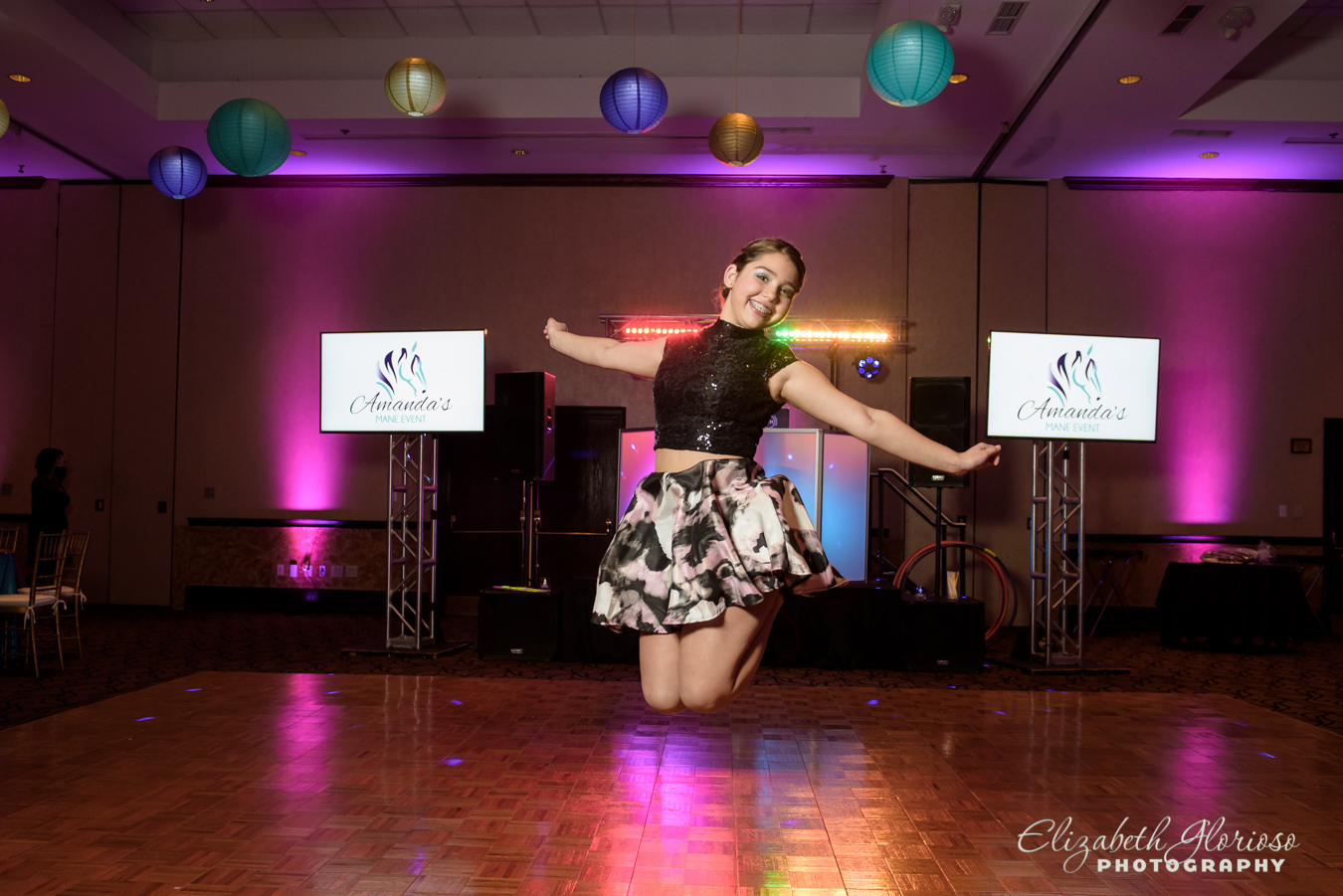 Bat Mitzvah girl jump Bertram Aurora Ohio