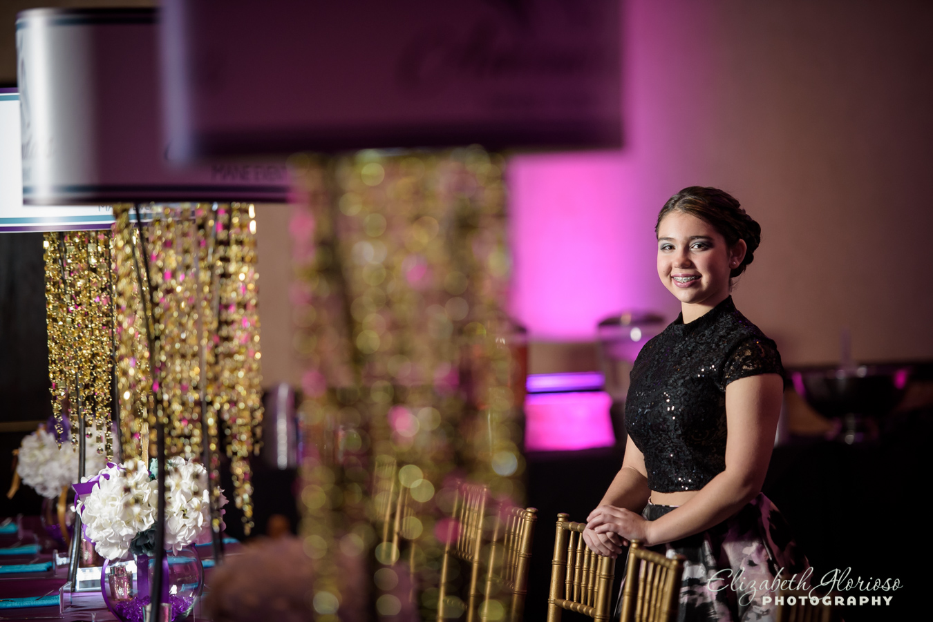 Bat Mitzvah girl portrait at the Bertram Aurora Ohio