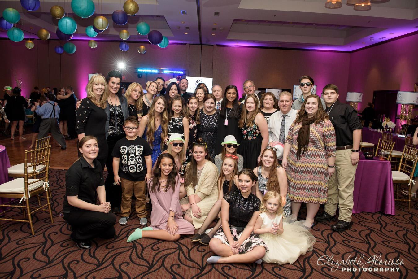 Mitzvah group portrait Bertram Aurora Ohio