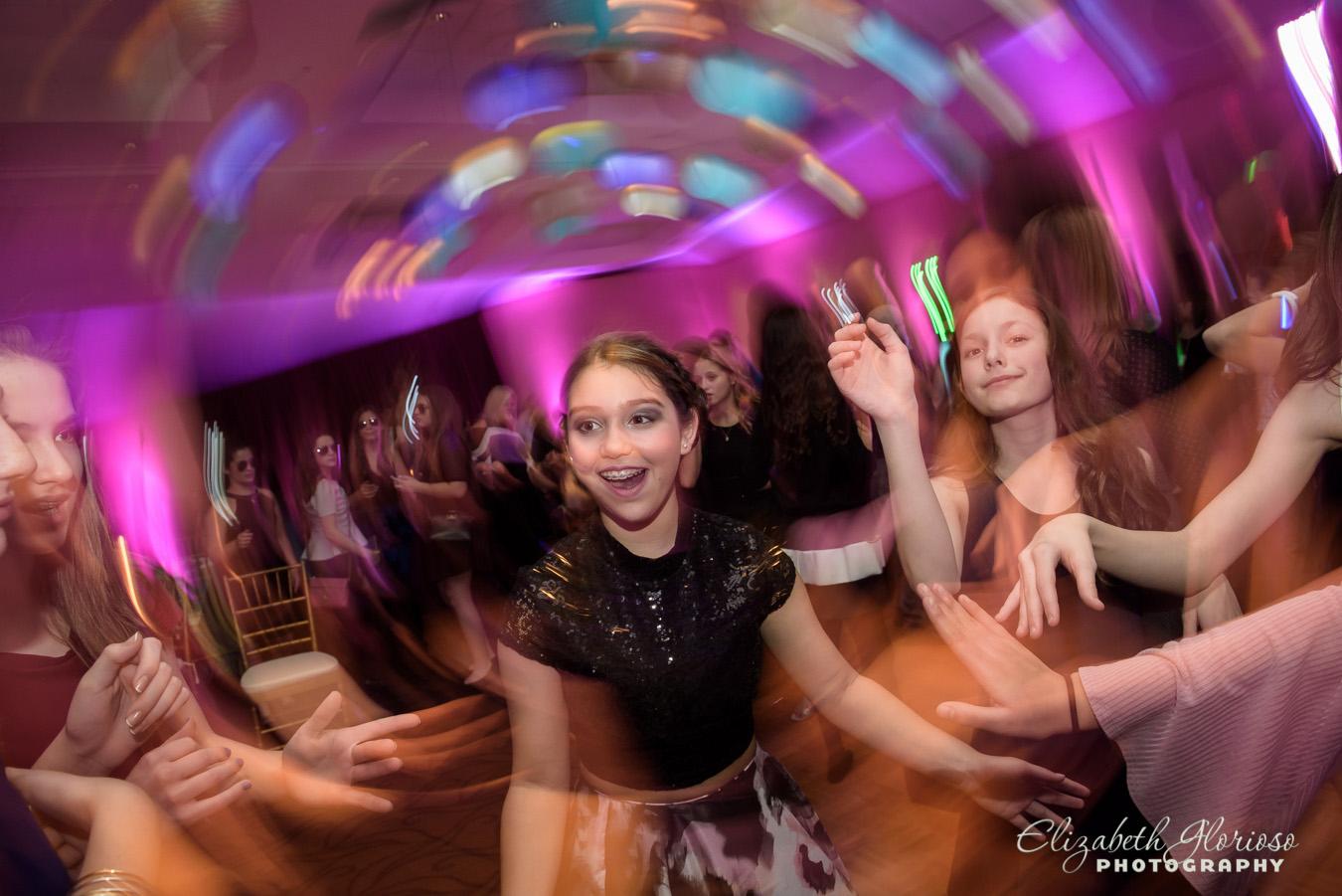 Bat Mitzvah girl dancing at the Bertram Aurora Ohio