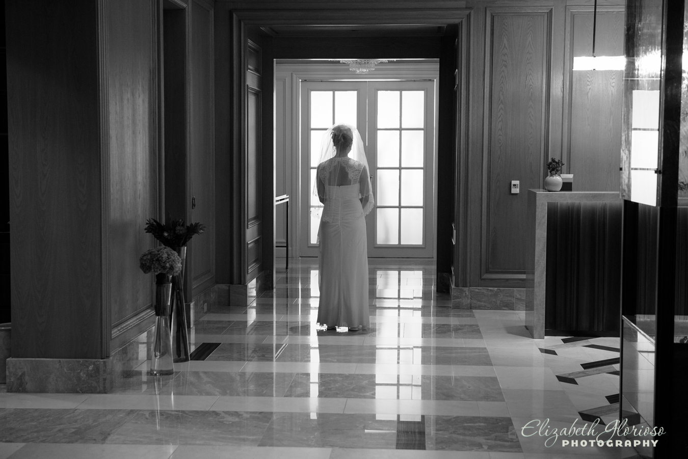 Bride first look at the Ritz Cleveland Ohio