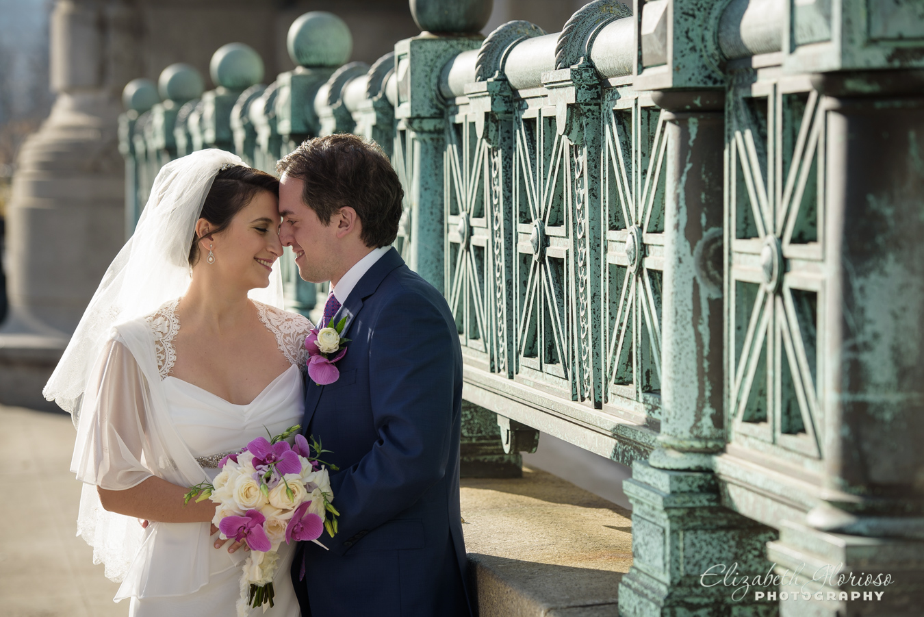 Bride and Groom photo at Cleveland Public Library