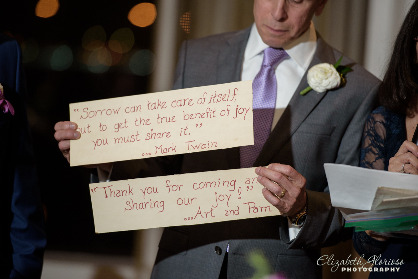 photo of words from Mother of the groom Cleveland Ohio