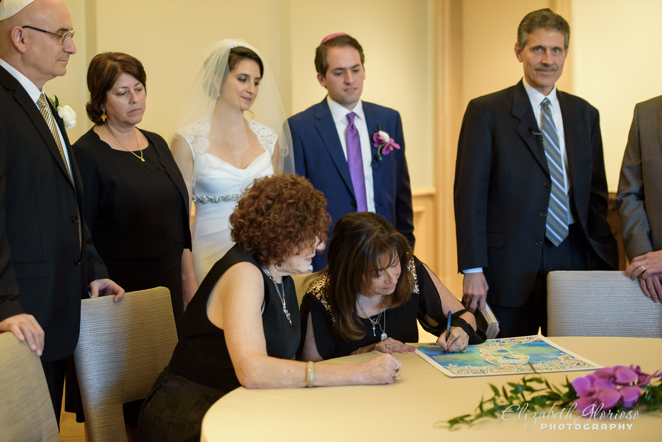 Ketubah signing photo at the Ritz Carlton Cleveland