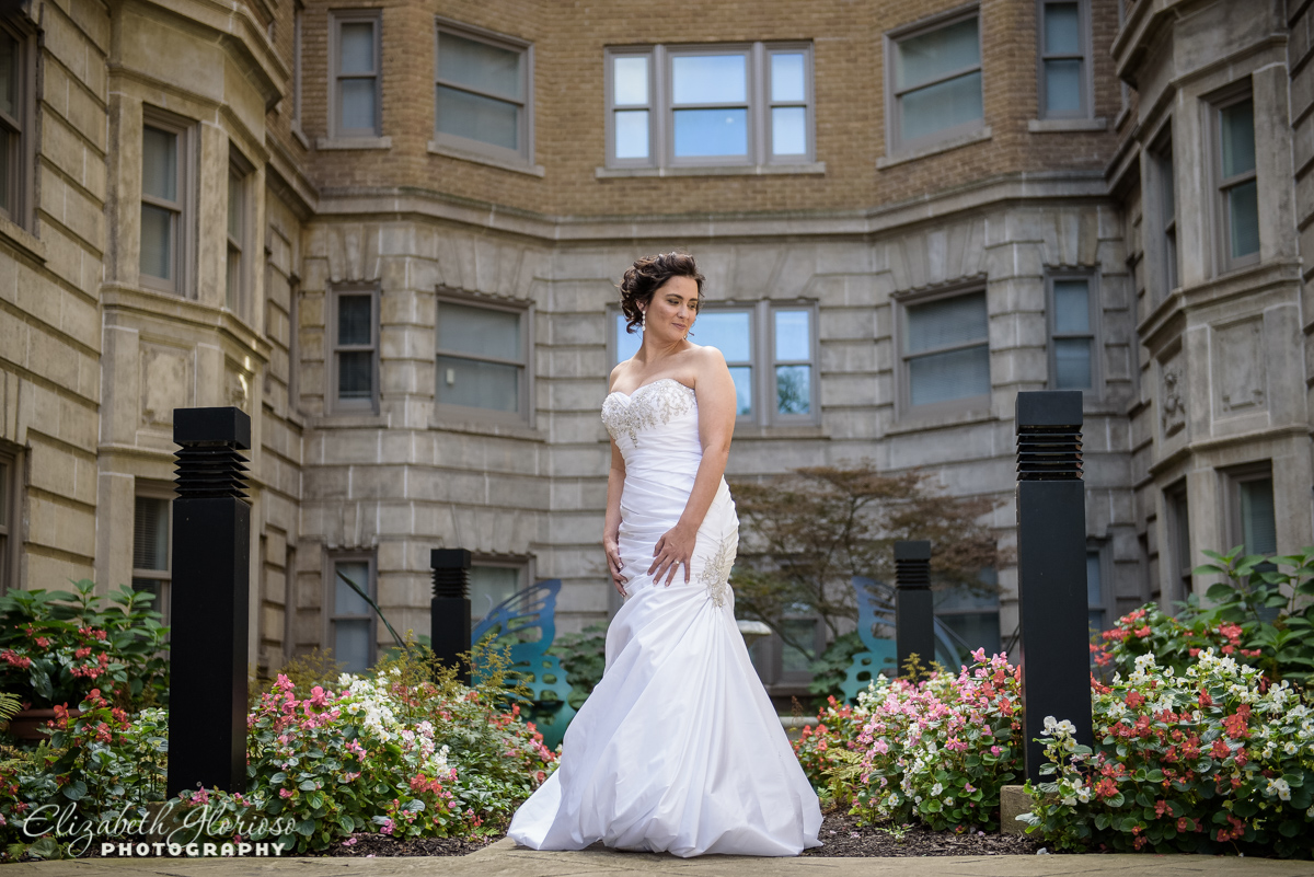 Bride at Ballroom at Parklane Cleveland Ohio